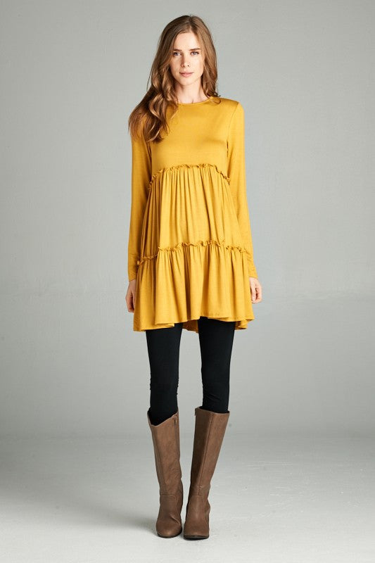 Layered Dress with Sleeves