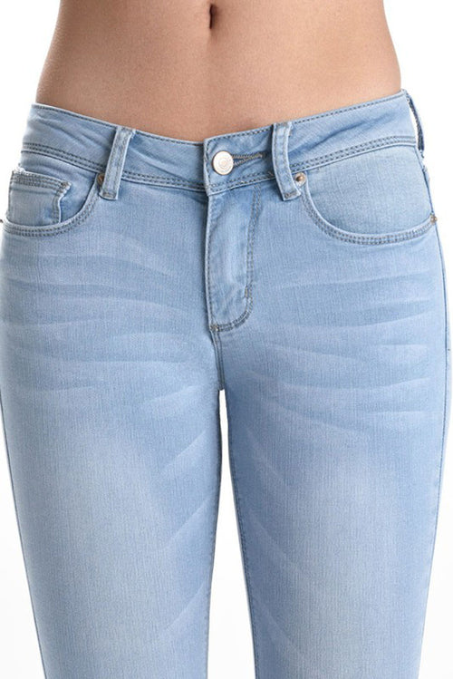 Holly Ankle Skinny Jeans : Light Blue