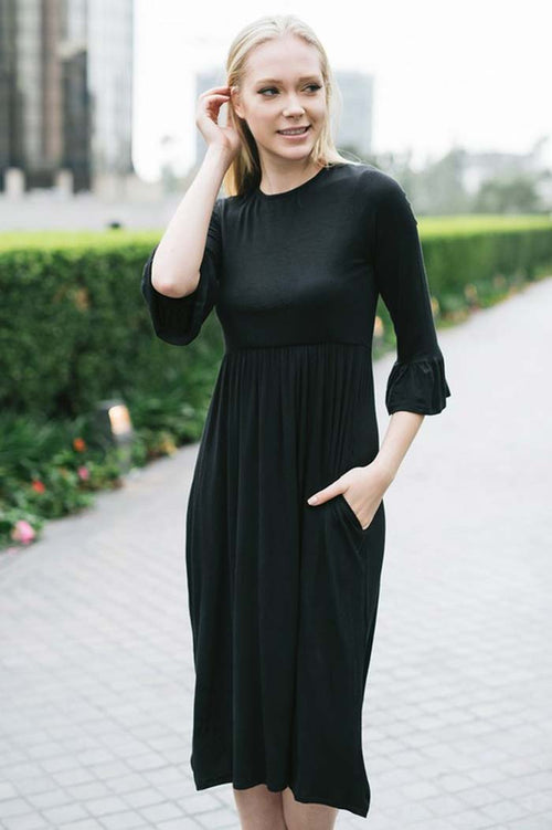 Chic Black Midi Dress