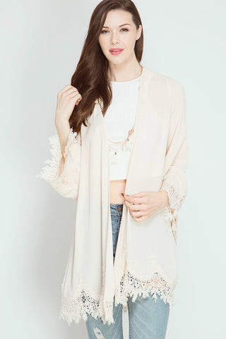 Scallop Lace Cardigan - Cardigans - GOZON