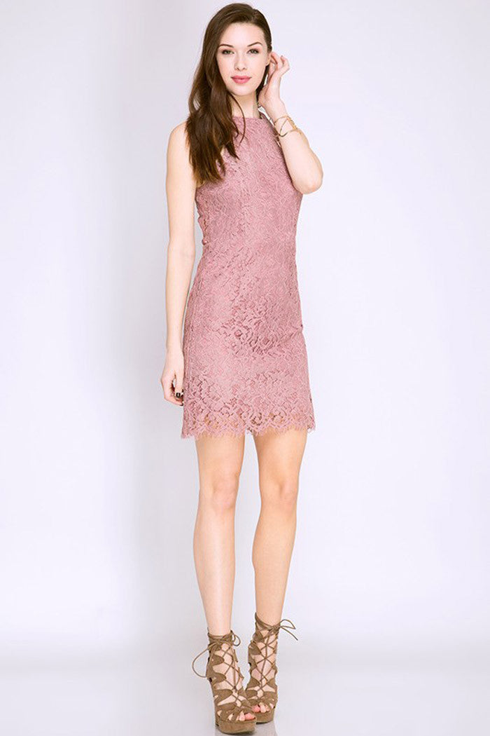 Lace Mini Dress - Mini - GOZON