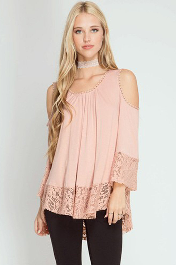 Cold Shoulder Top - Shirts - GOZON