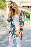 Spring Floral Print Open Front Cardigan - Cardigans - GOZON
