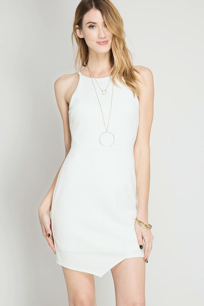 Textured Bodycon Dress - mini - GOZON