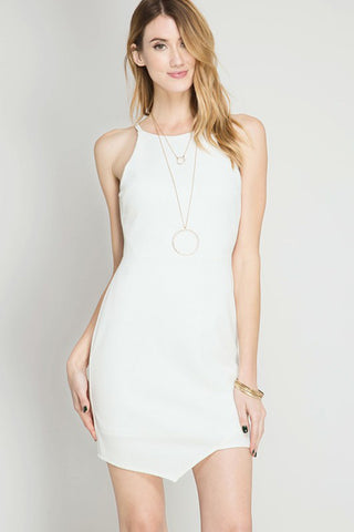 Solid Bodycon Midi Dress
