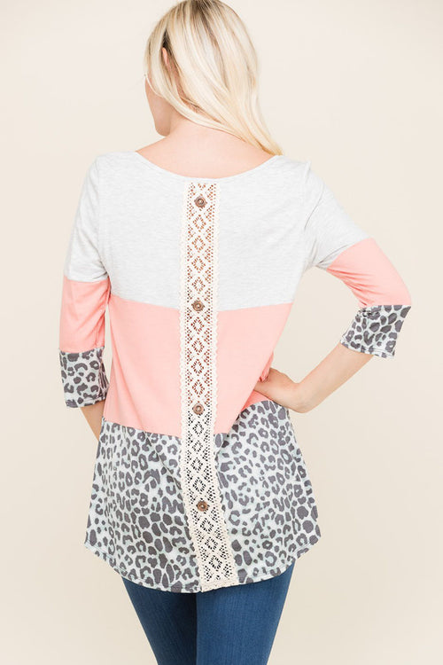 Mary Placket Back Tunic : Coral