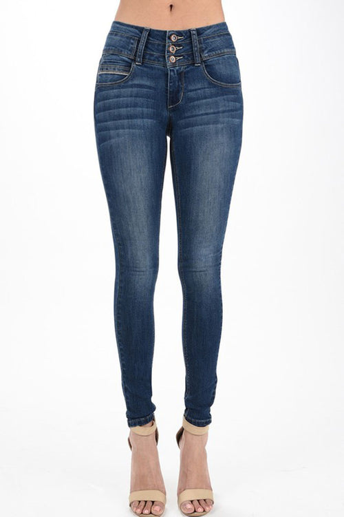 Mary Hip-Up Jeans : Dark blue