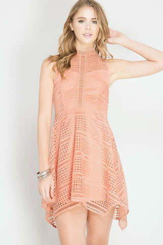 Solid Flare Mini Dress