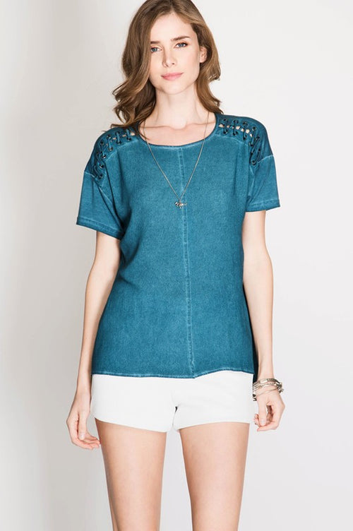 Casual Dyed Top - Shirts - GOZON