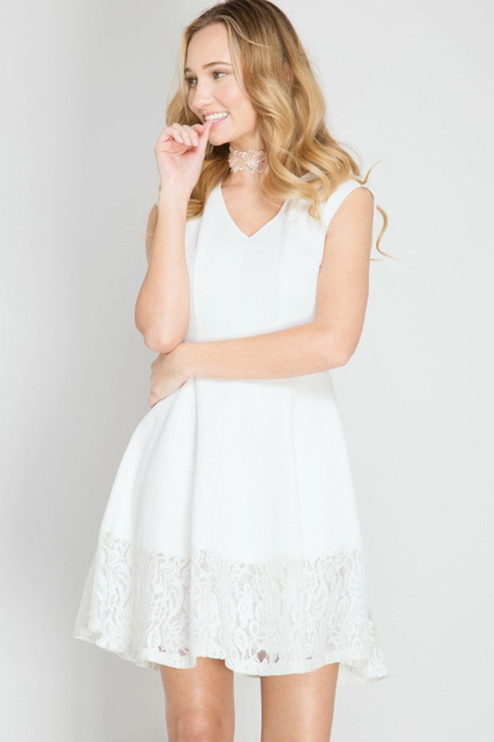 Solid Flare Mini Dress - Mini - GOZON
