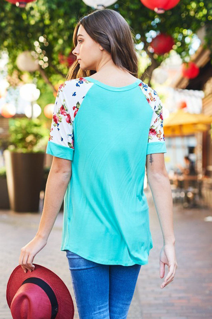 Floral Detail Top - shirts - GOZON