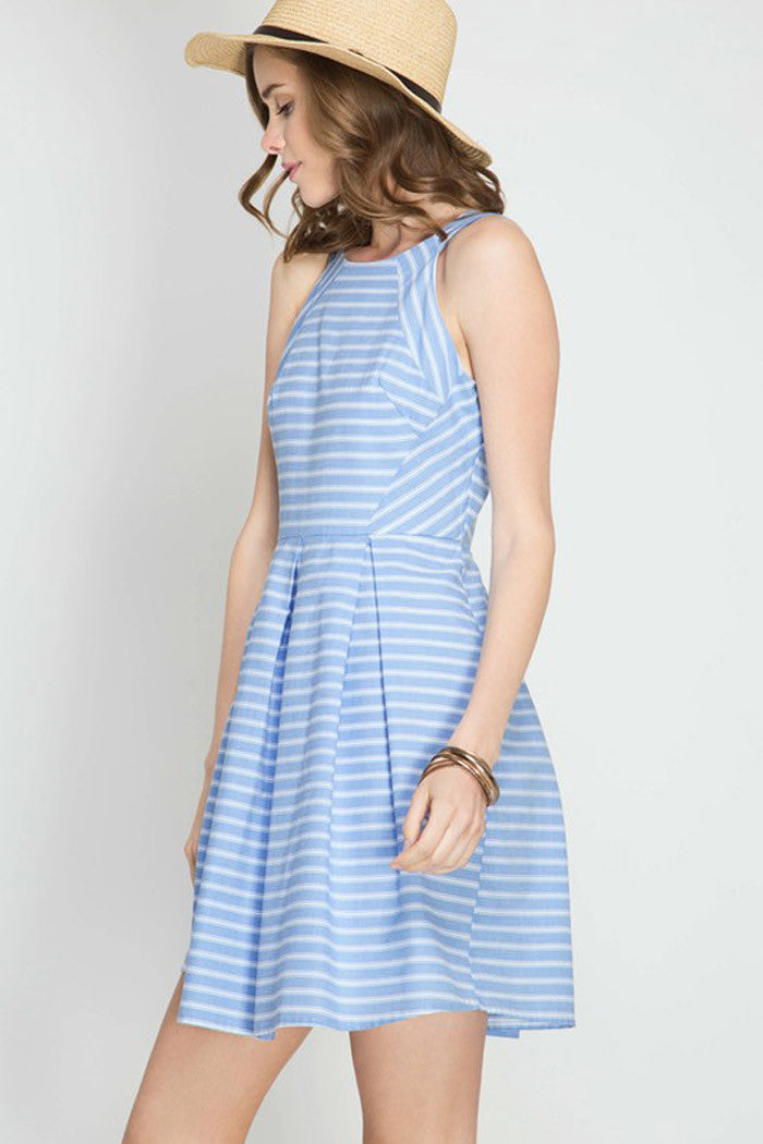Stripe Mini Dress - Mini - GOZON