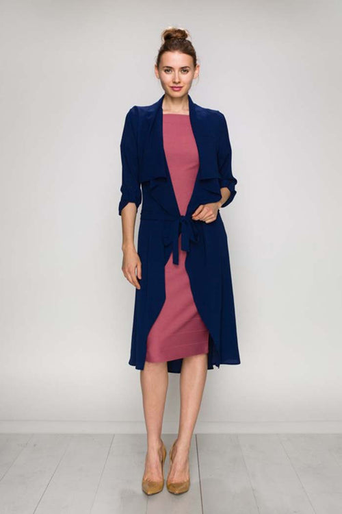 Open Front Long Jacket