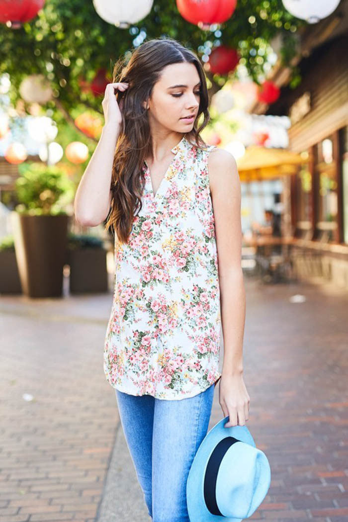 Floral Festival Top - shirts - GOZON