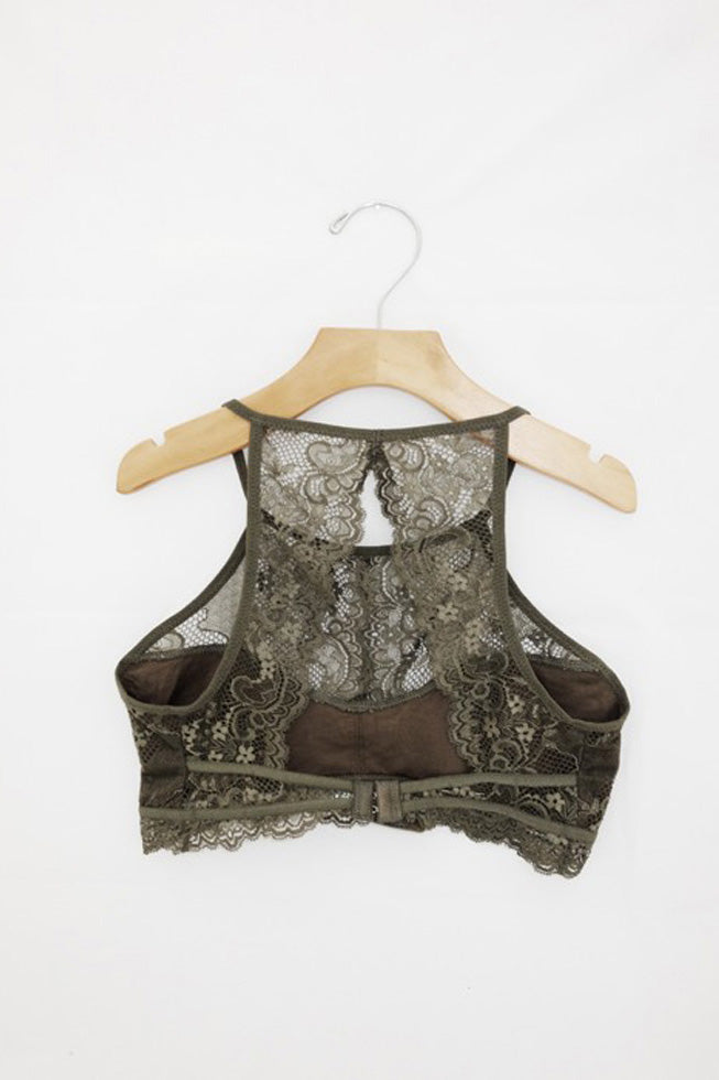 Marie High-Neck Lace Bralette