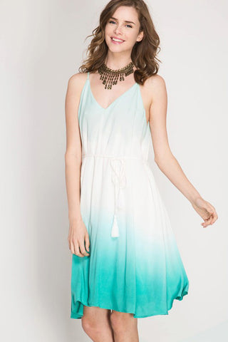 Ombre Cami Midi Dress - midi - GOZON