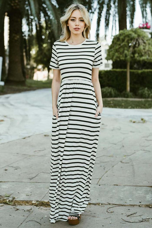 Countless Stripe Maxi Dress - maxi - GOZON