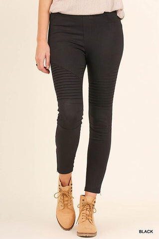 Vintage Moto Long Leggings : Pine green