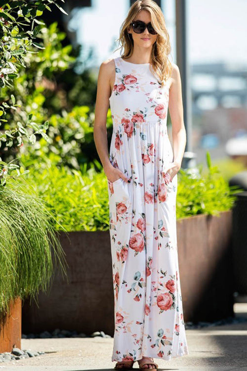 Floral Maxi Dress - maxi - GOZON
