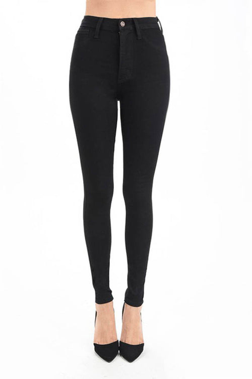 Isabel High Waist Black Jeans : Black