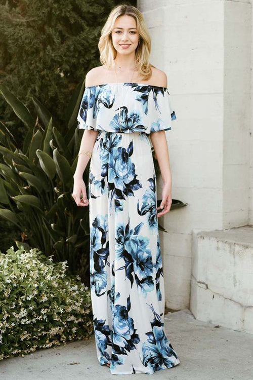 Beach Look Off Shoulder Maxi Dress - Maxi - GOZON