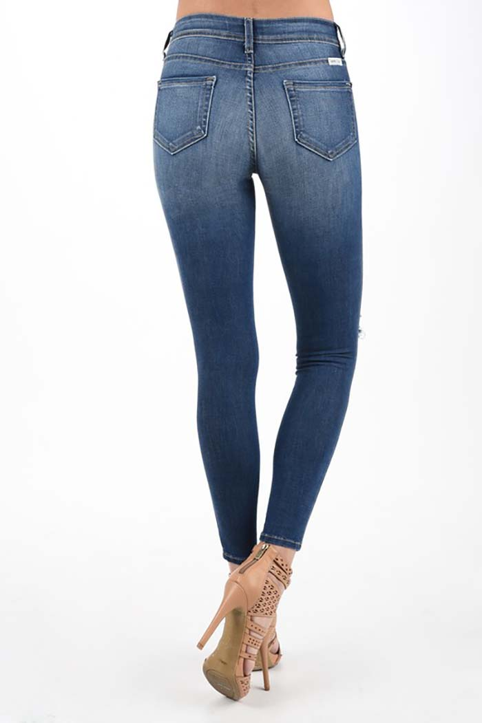 Blakely Skinny Ankle Denim Jeans : Medium Blue