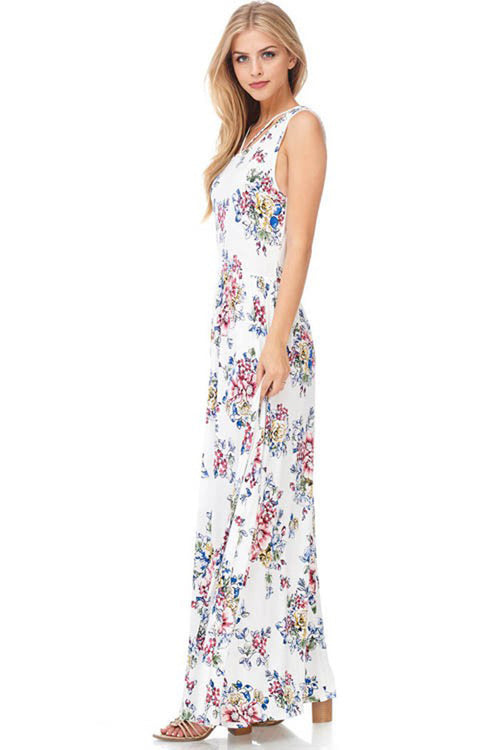Blooming Floral Maxi Dress - Maxi - GOZON