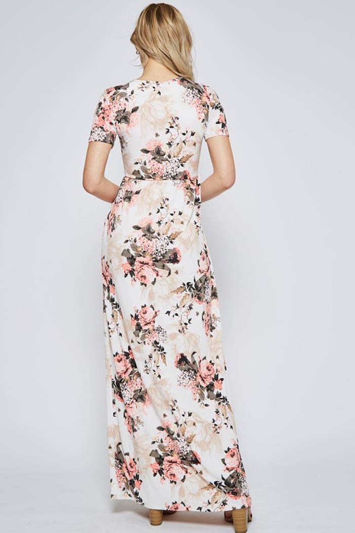 Mila Pink Floral Maxi Dress : Multi