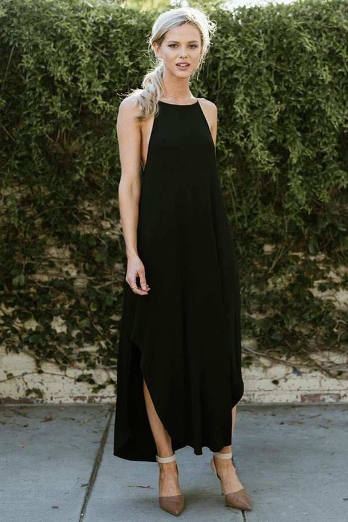 Slit Maxi Dress - maxi-pre - GOZON