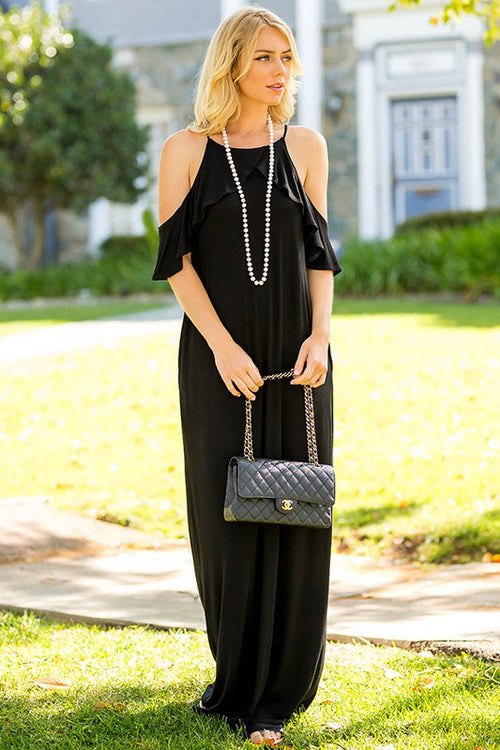 Lovely Maxi Dress : Black