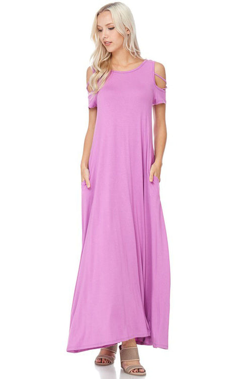 Flowy Silhouette Maxi Dress : Orchid
