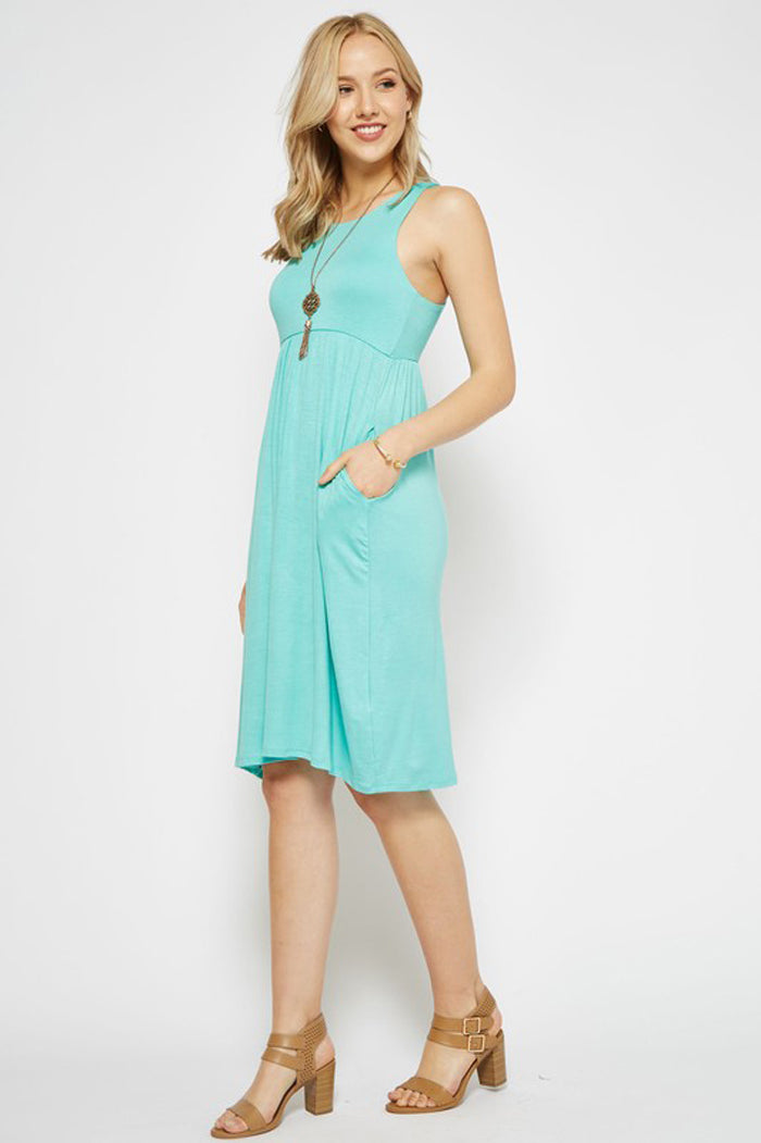Erin Basic Midi Dress : Mint