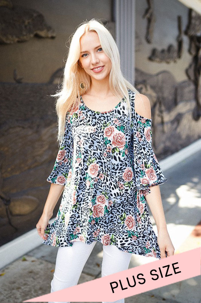 Animal and Floral Combo Top