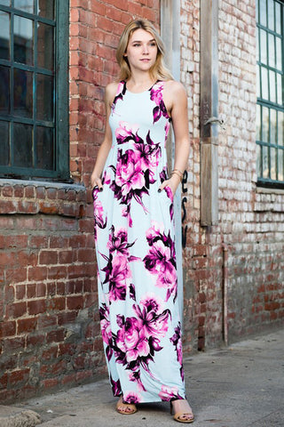 Floral in the Sky Maxi Dress