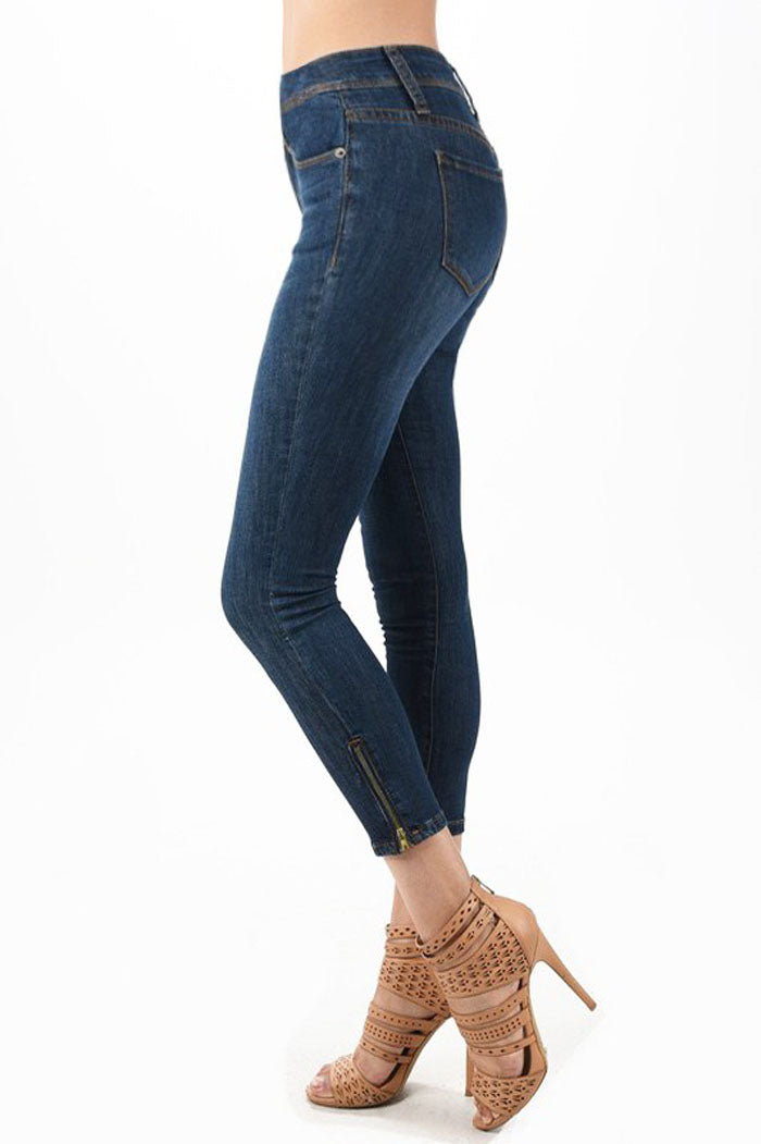 Brenda Dark Ankle Jeans : Dark Blue
