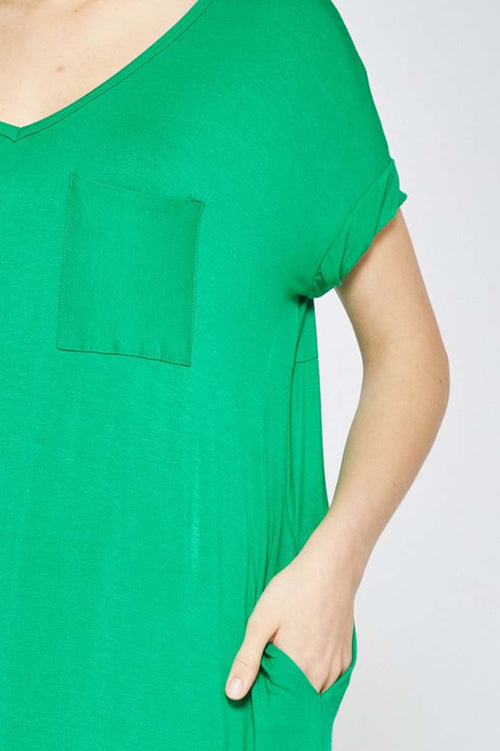 Esme T-Shirt Maxi Dress : Kelly Green