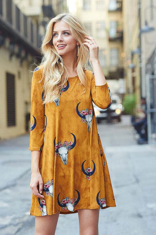 Floral Bevo Mini Dress