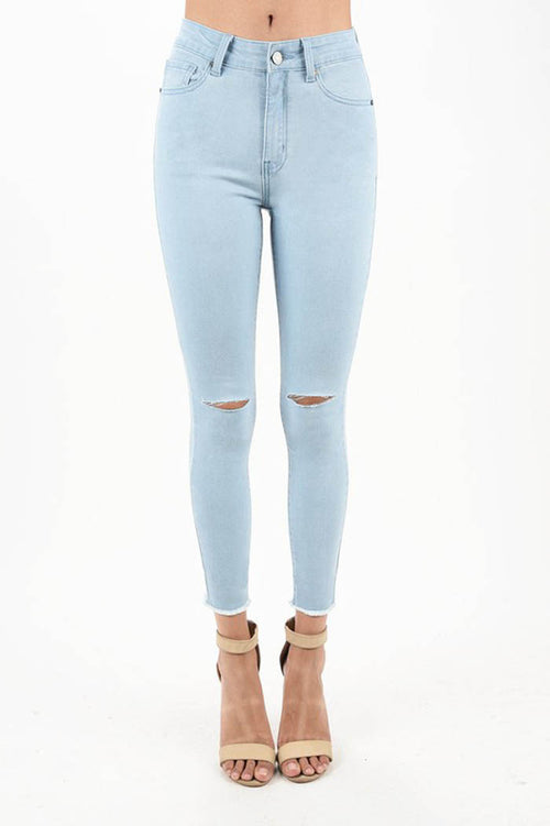 Bella High Rise Skinny Jeans : Light Blue