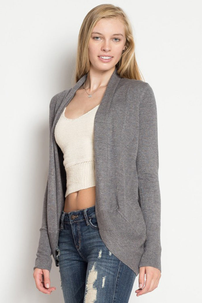 Soft Open Cardigan : Charcoal