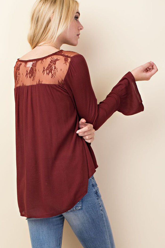 Romantic Laced Babydoll Top