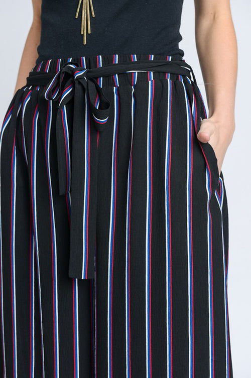 Helen Stripe Trousers : Black