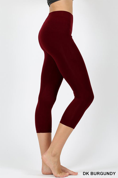 Seamless Capri Leggings : Black
