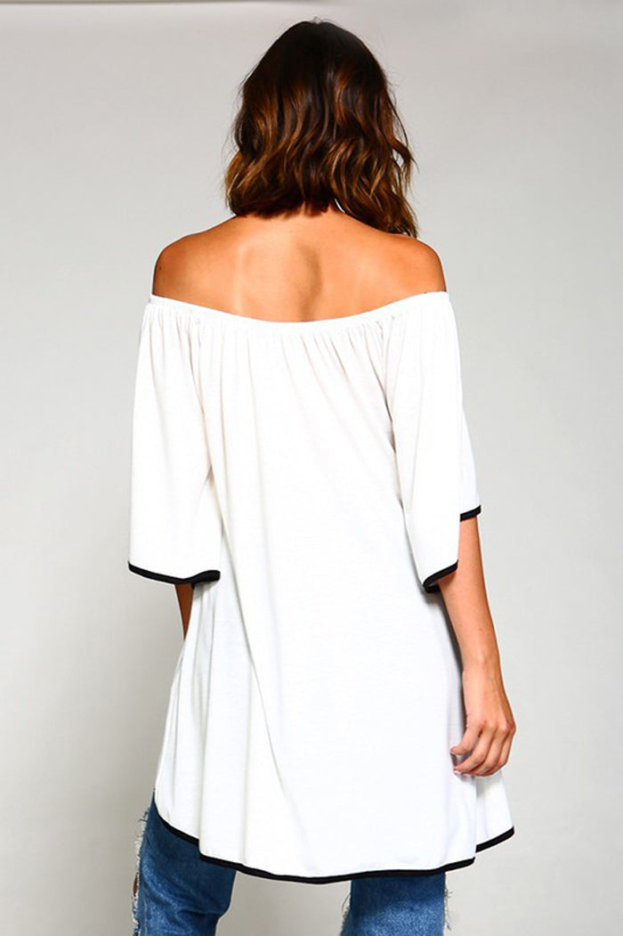 Taylor Off The Shoulder Top : Off White