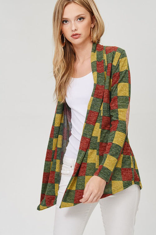 Eleanor Plaid Cardigan : Olive