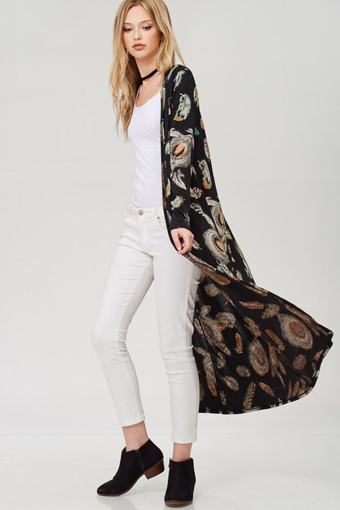 Lindsay Long Cardigan : Black