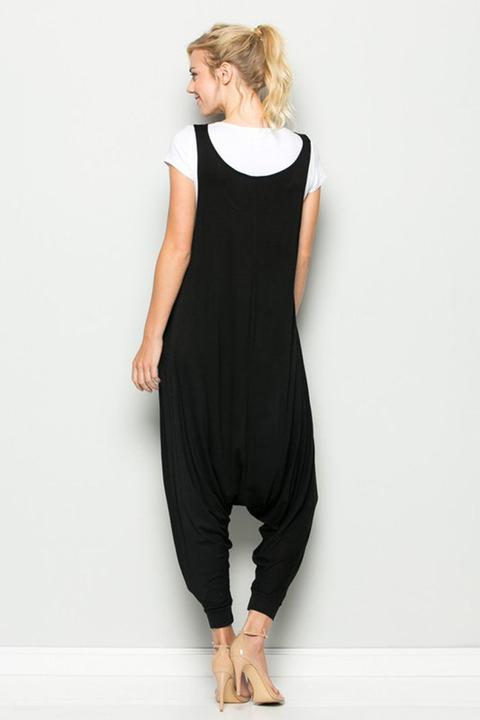 Aria Sleeveless Jumpsuits : Black