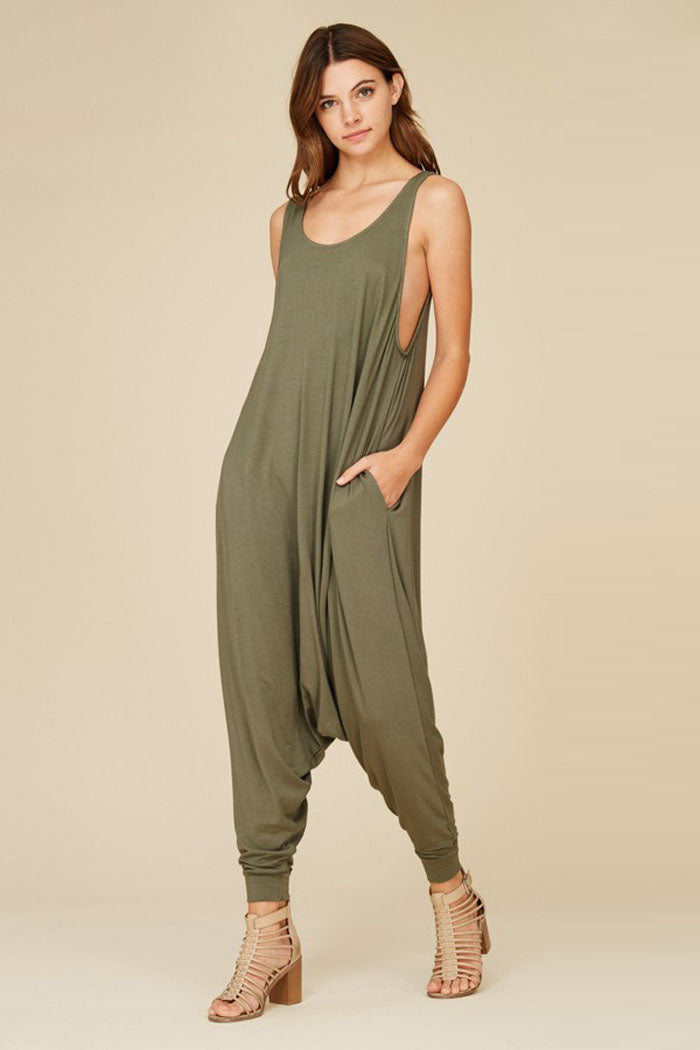 Aria Sleeveless Jumpsuits : Ash Mauve