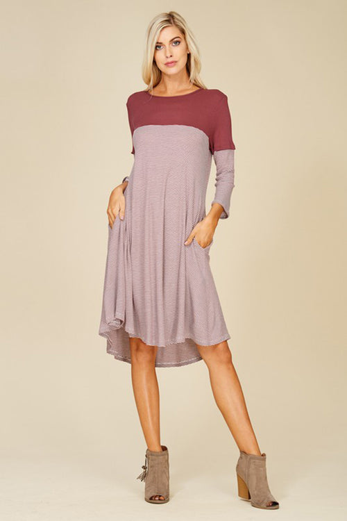 Aubrey Color Black Dress : Berry