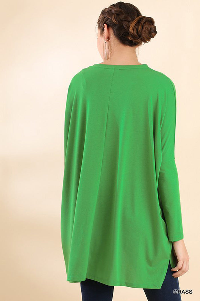 Joanna Loose Dolman Top : Grass