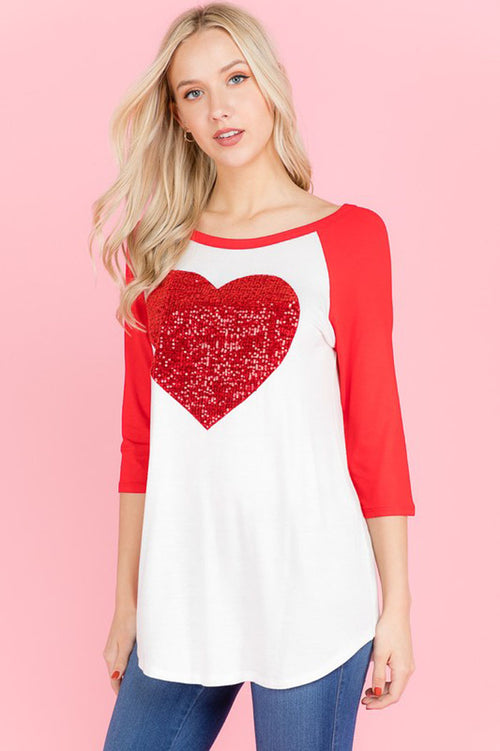 Valentine's Day Mood Heart Top